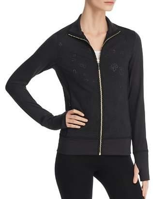 Kate Spade Floral Laser-Cut Zip Jacket