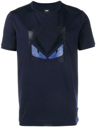 Fendi Crystal Embellished Monster T-Shirt