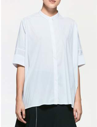 Calvin Klein platinum stretch cropped short sleeve shirt
