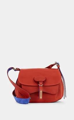 Fontana Milano Women's Wight Lady Leather Saddle Bag - Rust
