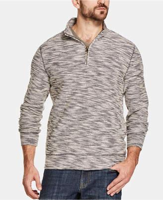 Weatherproof Vintage Men Marled Quarter-Zip Sweater