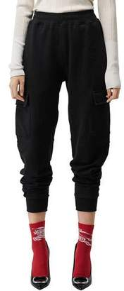 Burberry Justley Cropped Jogger Track Pants