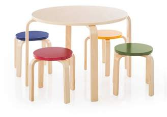 Guidecraft 5 Piece Kids Table and Stools Set