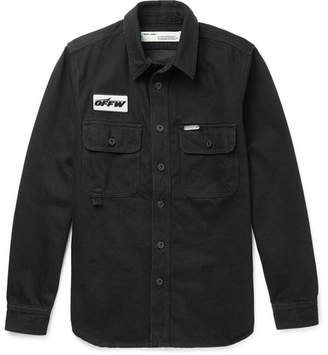 Off-White Off White Denim Shirt - Men - Black