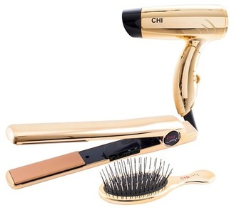 "CHI Air®Classic Flat Iron Bright Gold Gift Set 1"" $99.99 thestylecure.com"