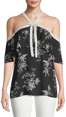 Vince Camuto Women's Printed Cold Shoulder Blouse