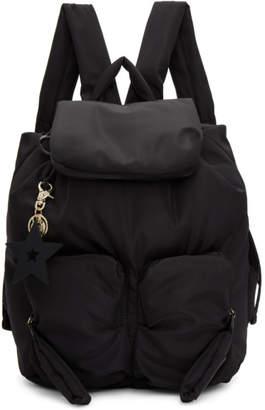 See by Chloe Black Star Charm Backpack