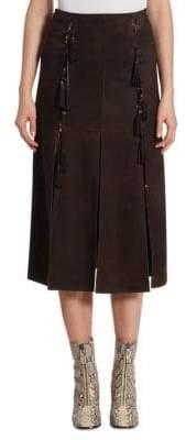 Chloé Suede Fringe Skirt