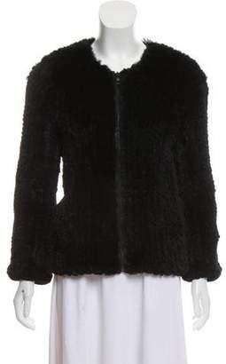 Alice + Olivia Knitted Fur Jacket