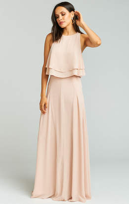 Show Me Your Mumu Princess Di Stretch Ballgown Maxi Skirt ~ Dusty Blush Crisp