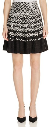 NIC and ZOE Geometric Chic Twirl Skirt $158 thestylecure.com