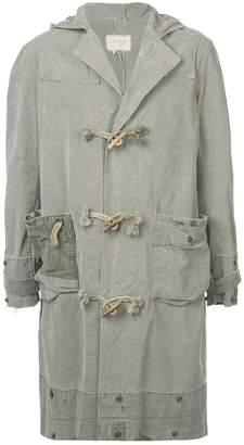 Greg Lauren hooded single-breast coat