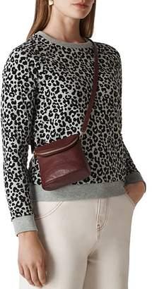 Whistles Flocked Cheetah-Print Sweater