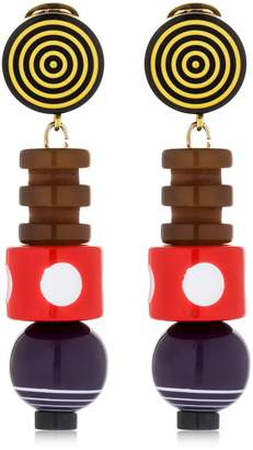 Missoni Graphic Modernist Resin Drop Earrings