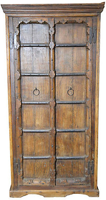 One Kings Lane Vintage Antique Indian Armoire - FEA Home