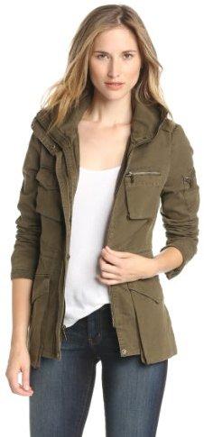 BCBGeneration Women's Alex Cotton-Utility Jacket