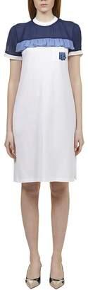 Prada Frill-Detail Shift Dress