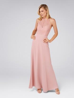 Forever New Nina Lace Top Soft Maxi Dress - Soft Blush - 4