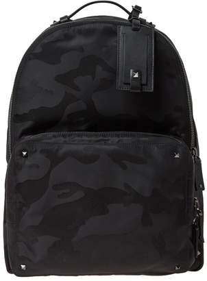 Valentino Nylon Jaquard Camo Backpack