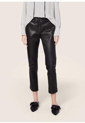 Derek Lam Leather Drake Crop Trouser