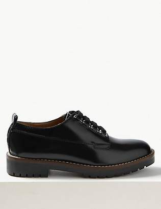 M&S Collection Leather Cleat Sole Lace-up Brogue Shoes