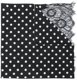 Valentino polka-dot scarf