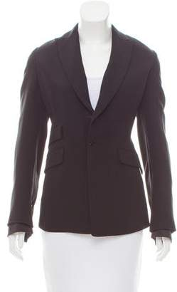 Agnona Peak-Lapel Structured Blazer