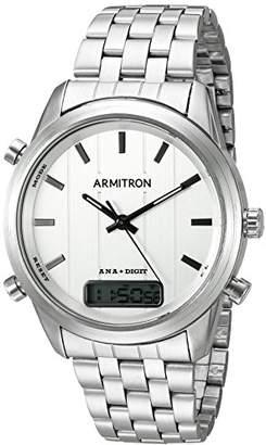 Armitron Men's 20/5125SVSV Analog-Digital Chronograph -Tone Bracelet Watch