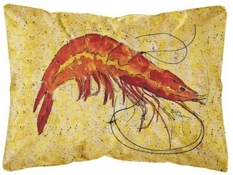 Caroline's Treasures Shrimp Canvas Fabric Decorative Pillow