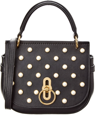 Mulberry Small Amberley Pearl Embellished Leather Satchel