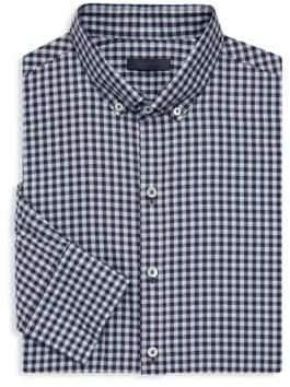 Zachary Prell Regular-Fit Checkered Cotton Button-Down Shirt