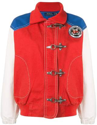 Polo Ralph Lauren colour block bomber jacket