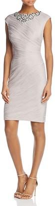 Eliza J Embellished-Neck Sheath Dress $188 thestylecure.com