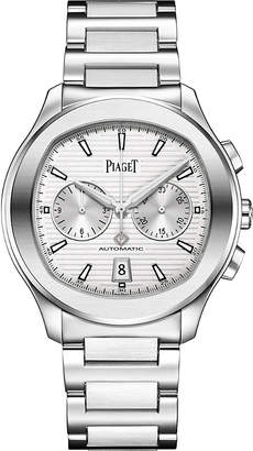 Piaget G0A41004 Polo S steel and sapphire crystal chronograph watch