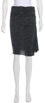 Burberry Knee-Length Ruch-Accented Skirt