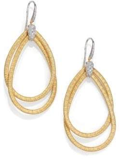 Marco Bicego Cairo Diamond& 18K Yellow Gold Large Double Teardrop Earrings