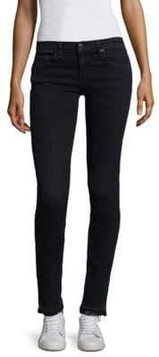 Rag & Bone Dre Boyfriend Crop Frayed Hem Jeans