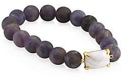 Chan Luu Matte Iolite Stretch Bracelet