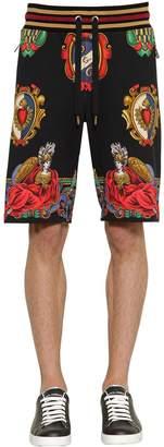 Dolce & Gabbana Printed Cotton Jersey Shorts