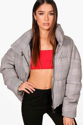 boohoo Casey Check Puffer Jacket