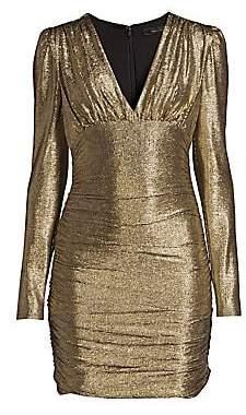 BCBGMAXAZRIA Women's Metallic Knit Dress
