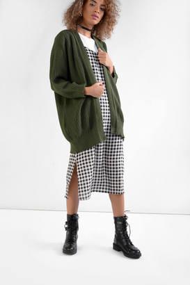 Glamorous Khaki Oversized Cardigan