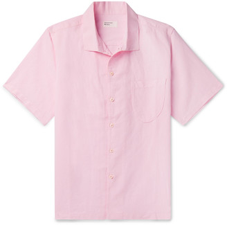 Universal Works Overdyed Linen and Cotton-Blend Shirt - Men - Pink