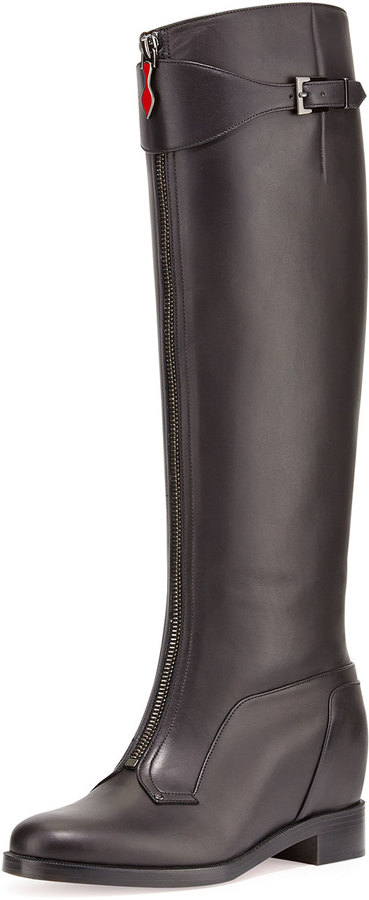 Christian Louboutin Foresta Zip-Front Wedge Boot