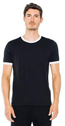 American Apparel Men's Poly-Cotton Short Sleeve Ringer T-Shirt