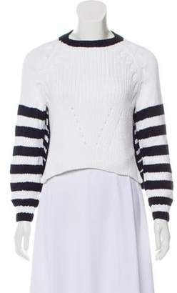 Spencer Vladimir Striped Knit Sweater White Spencer Vladimir Striped Knit Sweater