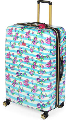 "Betsey Johnson 30"" Stripe Floral Hummingbird Upright Spinner"