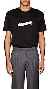 Lanvin Men's Crossed-Out-Logo Cotton T-Shirt - Black