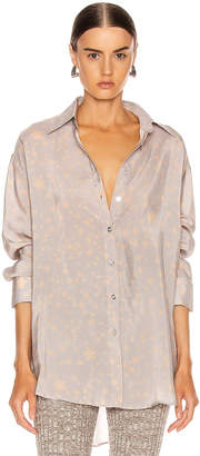 Acne Studios Stella Print Shirt in Lilac Purple | FWRD