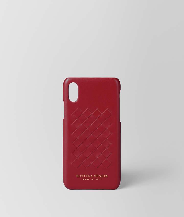 Bottega Veneta CHINA RED INTRECCIATO NAPPA HIGH-TECH CASE